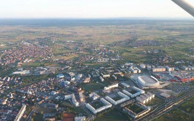 Panorama iz aviona – Zagreb